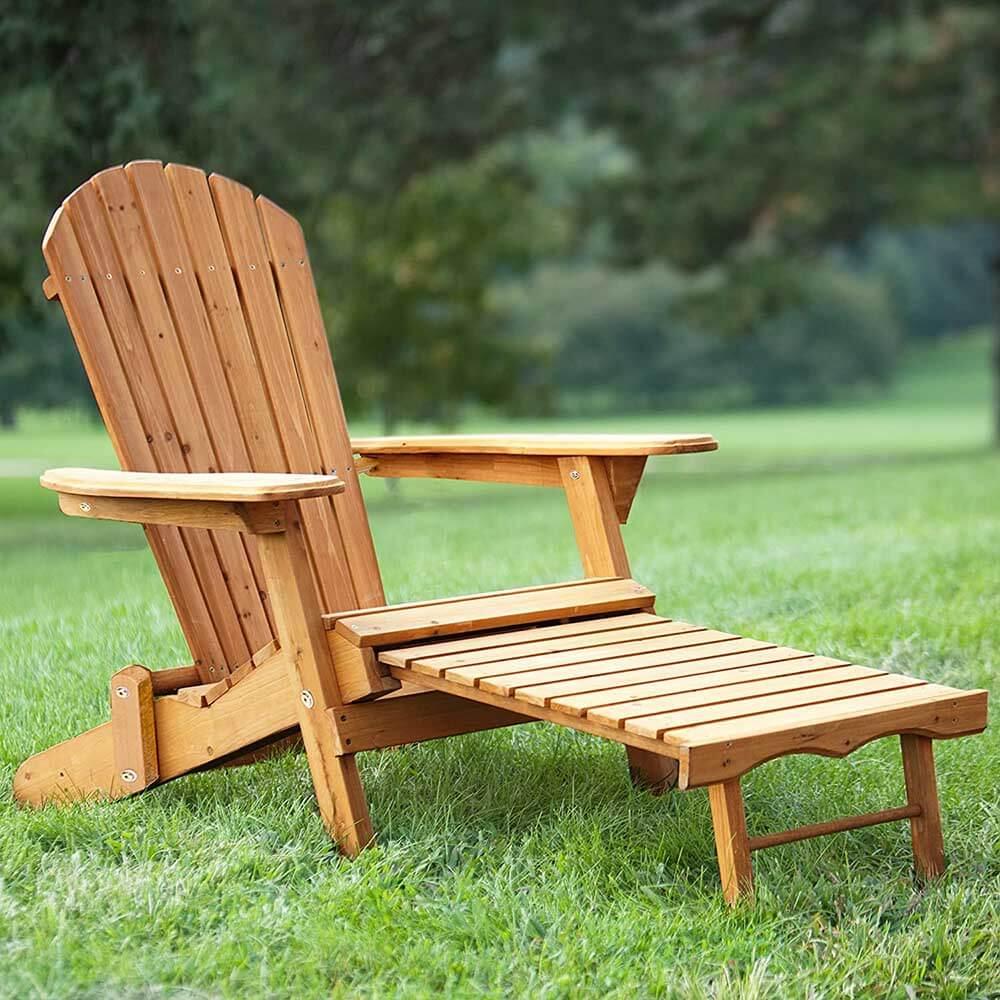 Kerti fa szék kihúzható