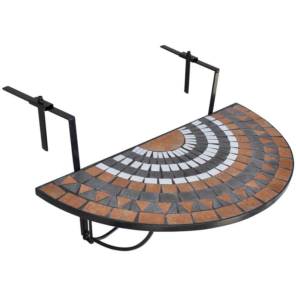 lehajtható balkon asztal barna