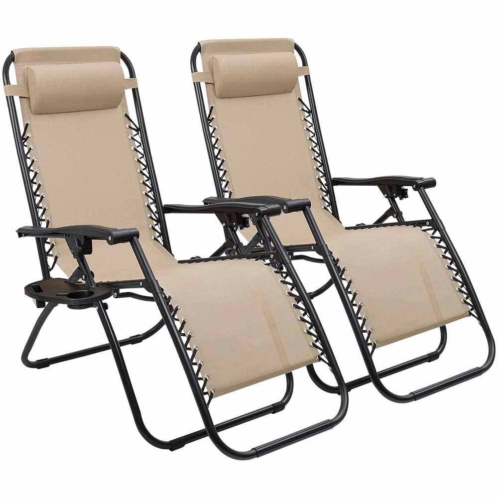 Zéró gravitáció kerti szék bézs