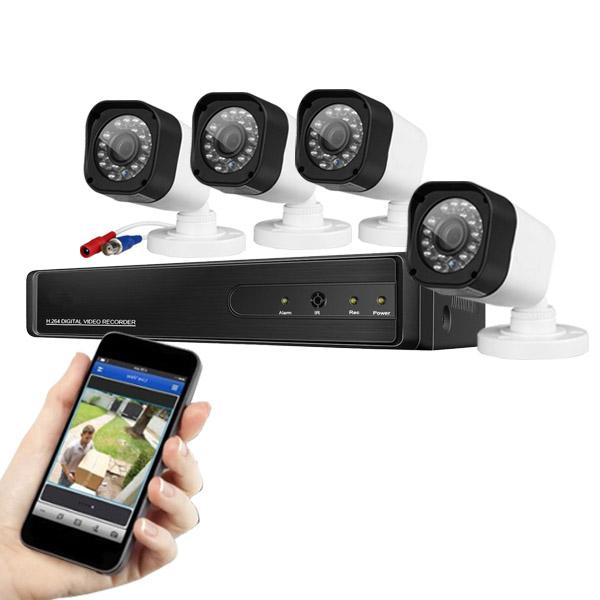 4 kamerás kül-, és beltéri vezetékes AHD kamerarendszer