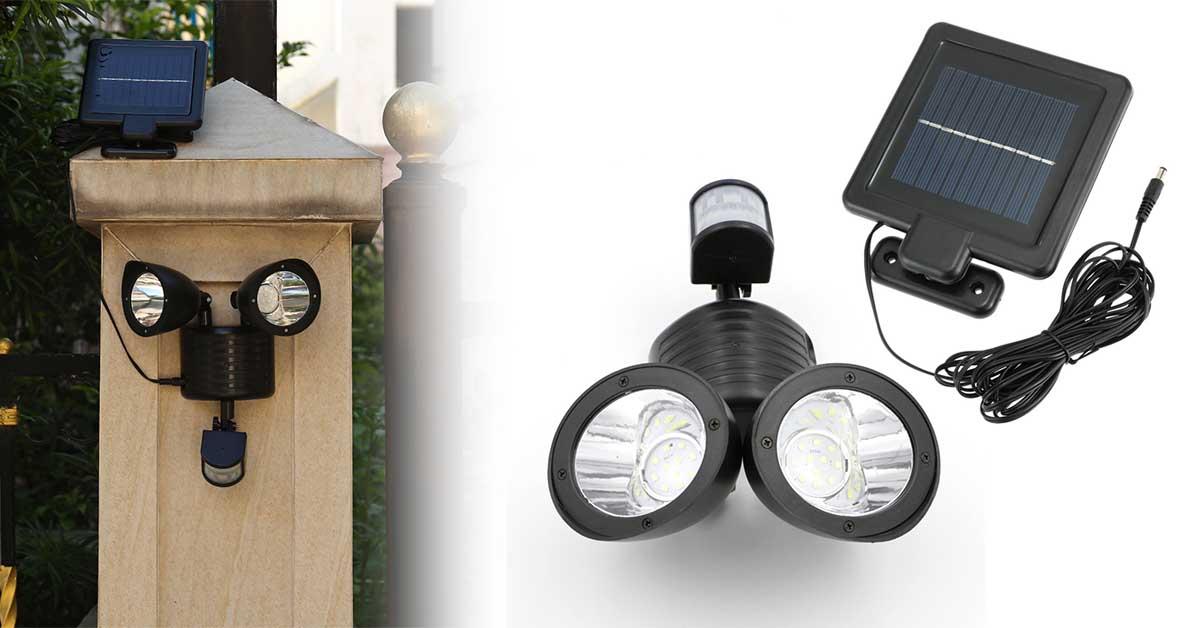 Szolár panel és lámpa