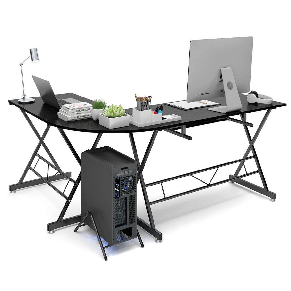 Sarokba is helyezhető L alakú íróasztal