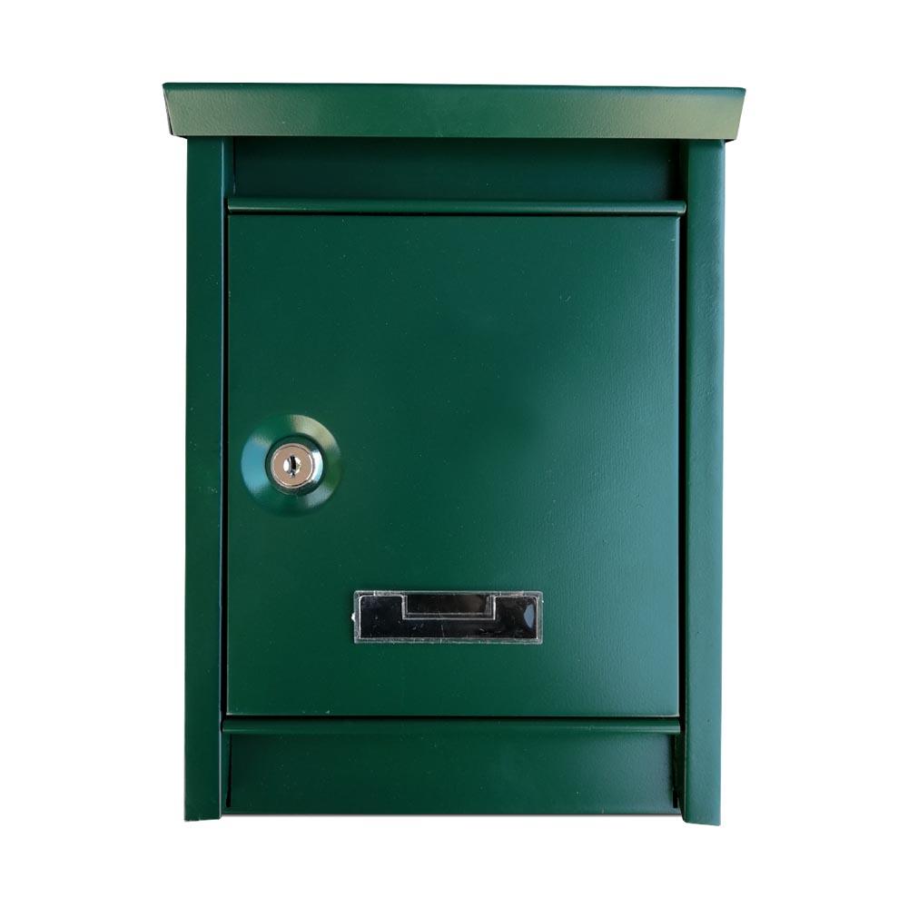 Fém postaláda 2 színben - zöld